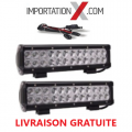 "2 X BARRE DEL - LED 120W 12"" COMBO + 1 X KIT DE FILAGE"
