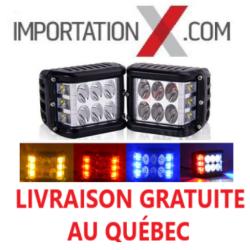 2 X BARRE DEL - LED 4'' 15W/30W/15W 1500L/3000L/1500L STROBE/SPOT/STROBE