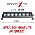 BARRE LED HI/LO 60W/160W NOIR