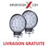 2 X DEL - LED RONDE 42W 4'' MINCE SPOT 4200 LUMENS