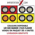 4 X FEU POSITION CLIGNOTANT DEL LED 3/4'' 3 FILES GRADE AA (CHOIX DE COULEURS)