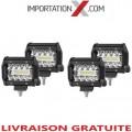 4 X BARRE DEL - LED 4'' 60W 6000L COMBO GRADE AAA