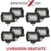8 X BARRE DEL - LED 4'' 60W 6000L COMBO GRADE AAA