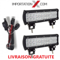 "2 X BARRE DEL - LED 72W 12"" COMBO + 1 X KIT DE FILAGE"