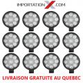 12 X DEL - LED RONDE 27W 100mmX85mmX20mm PLUS PETITE SPOT 1890 LUMENS