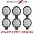 6 X DEL - LED RONDE 27W 100mmX85mmX20mm PLUS PETITE SPOT 1890 LUMENS