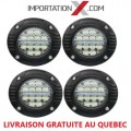FOG ROND ENCASTRABLE 4 X 48W COMBO + CLIGNOTANT INTÉGRER GRADE AA