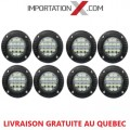 FOG ROND ENCASTRABLE 8 X 48W COMBO + CLIGNOTANT INTÉGRER GRADE AA