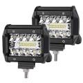 2 X BARRE DEL - LED 4'' 60W 6000L COMBO GRADE AAA
