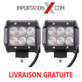 2 X BARRE DEL - LED 4'' 18W 1800L FLOOD GRADE AA