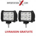 2 X BARRE DEL - LED 4'' MINI 18W 1800L SPOT