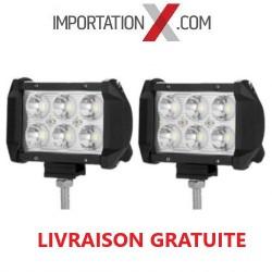 2 X BARRE DEL - LED 4'' MINI 18W 1800L SPOT