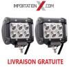 2 X BARRE DEL - LED 4'' 18W 1800L SPOT GRADE AA
