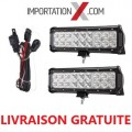 "2 X BARRES DEL - LED 90W 9"" COMBO + FILAGE"