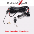 1 X Ens d' installation et télécommande à distance pour 2 lumières DEL - LED