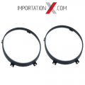 2 X SUPPORTS # 68003772AA CADRE BEZELL RING PHARE - HEADLIGHT 7'' NOIR