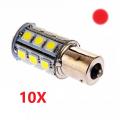 10 X BULBE DEL - LED #1156 ROUGE 12V 6W