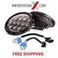 PHARE DEL - HEADLIGHT 7'' LED 105W NOIR DOT SAE GRADE AAA