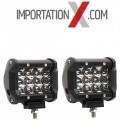 "2 X BARRE DEL - LED 36W 4"" SPOT"