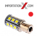 1 X BULBE DEL - LED #1156 ROUGE 12V 6W