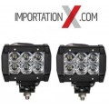 2 X BARRE DEL - LED 4'' 18W 1800L SPOT