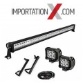 "1 X BARRE LED 52"" 300W COMBO + 1 PAIRE DE SUPPORT POUR JEEP JK 2007-2018 + 1 KIT DE FILAGE + 2 X 4'' SPOT"