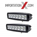 2 X BARRE DEL - LED 6'' 18W 1800L FLOOD