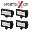 4 X BARRE DEL - LED 7'' 36W FLOOD
