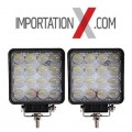 2 X DEL - LED CARRÉ 4'' 48W 5D FLOOD 5320 LUMENS
