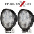 2 X DEL - LED RONDE 27W 4'' MINCE SPOT 2700 LUMENS