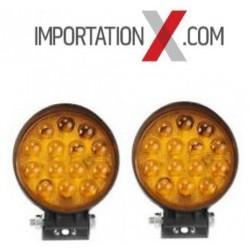X DEL - LED RONDE 4'' 42W SPOT AMBRE