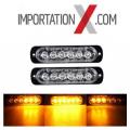 2X STROBE DEL - LED 18W ORANGE