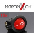10X SWITCH 12V 16A Rouge