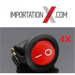 4X SWITCH 12V 16A Rouge