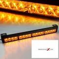 1 X BARRE LED D' URGENCE 18'' AMBRE / AMBRE 12X3W