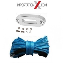 CABLE SYNTHÉTIC 6mm X 15M (1/4''X50') UHMWPE 7700 LBS BLEU + GUIDE CABLE